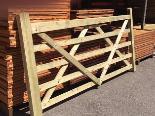 12 foot softwood entrance gate