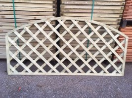 Pressure Treated 6x3 Bow Top Diamond Trellis