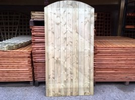 Pressure Treated Tongue & Groove Convex Top 6'x3' Gate