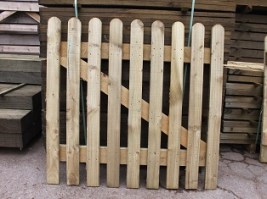 Round Top Pressure Treated Picket Gate 4'x3'